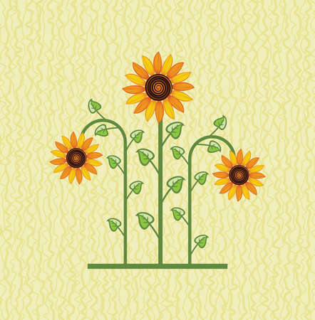 sunflower drawing: sunflower floral background for decoration