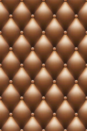 tufted: brown leather upholstery background