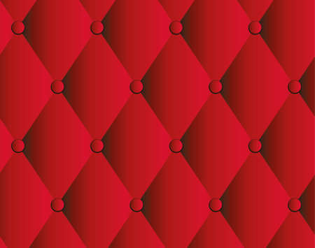 quilted fabric: red leather upholstery background