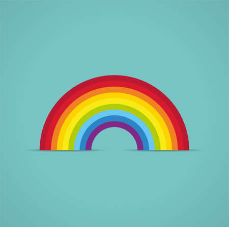 cartoon rainbow: symbol of rainbow arc Illustration