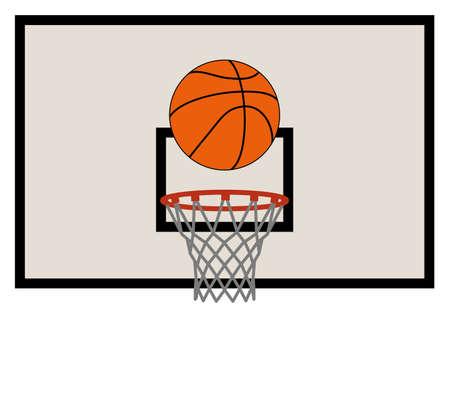 バスケット ボール ネット、バックボード セットのベクトル イラスト  イラスト・ベクター素材