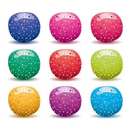 vector set of colorful fruit jellies  Vector