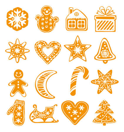 vector cartoon design of gingerbread cookies  Vector