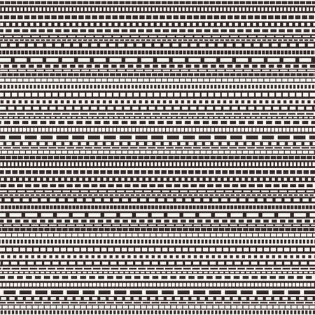 dashed line: vector black and white dashed lines seamless pattern
