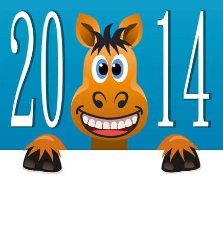 vector new year background of a horse  Vector