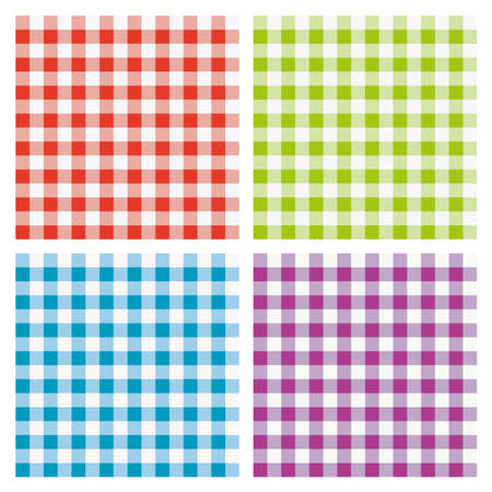 vector set of colorful picnic cooking tablecloth  Vector