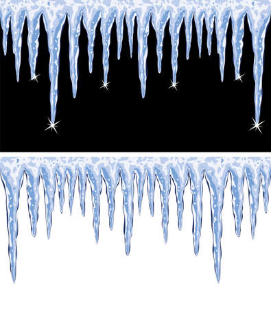 vector achtergronden van glanzende ijspegels Stock Illustratie