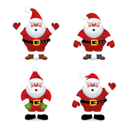 vector santa claus set Vector