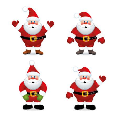 weihnachtsmann: Vektor santa claus set