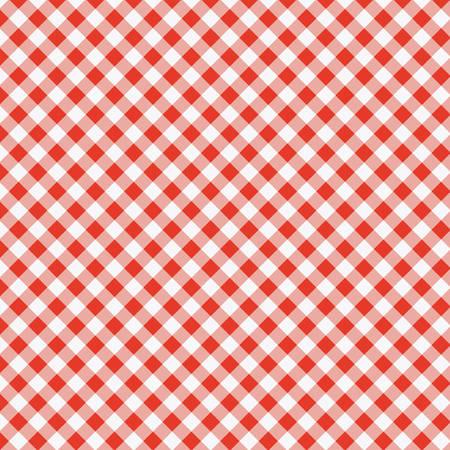 赤いピクニック テーブル クロスを調理のベクトル パターン