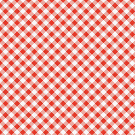 vector pattern of red picnic cooking tablecloth  Illustration