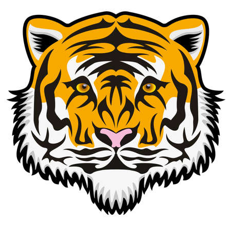 vector stylized tiger face