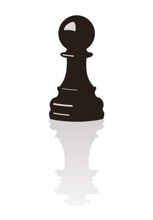 pion d'échecs avec le reflet d'un roi