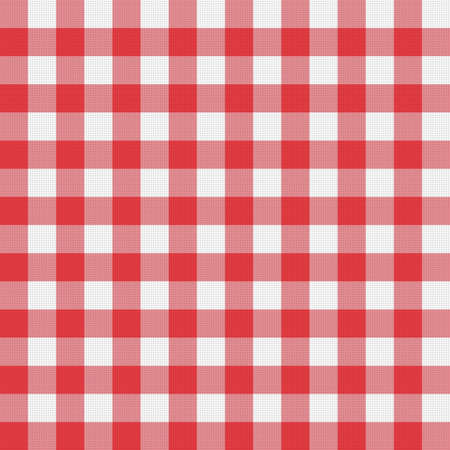 picnic tablecloth: vector red picnic tablecloth pattern