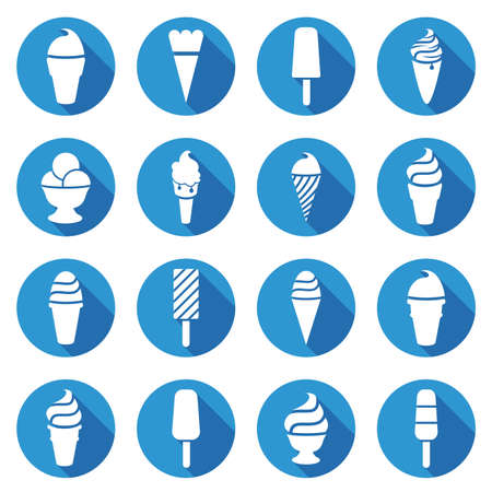 ice lolly: vector collection of ice cream icons