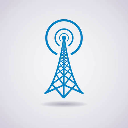 retro radio: radio tower broadcast icon