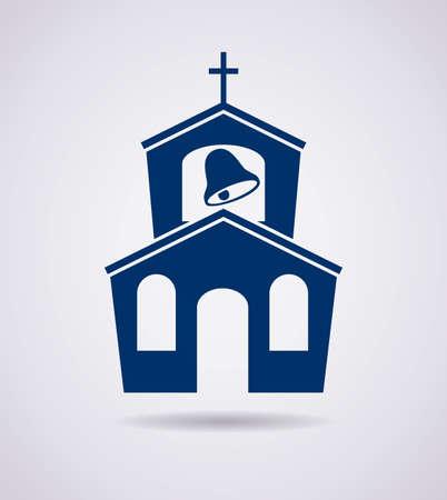 Vector, símbolo o icono del edificio de la iglesia Foto de archivo - 26630902