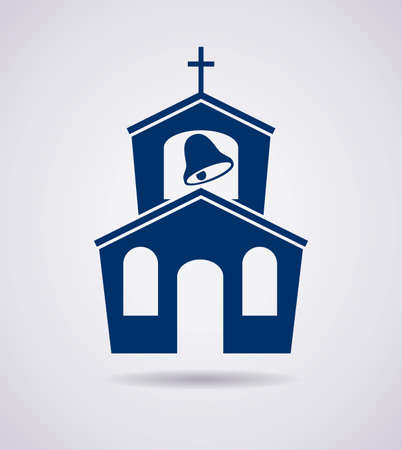 prayer tower: vector symbol or icon of church building