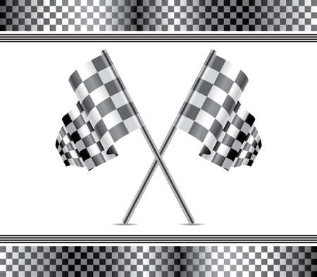 vector racing background and flags  Vector