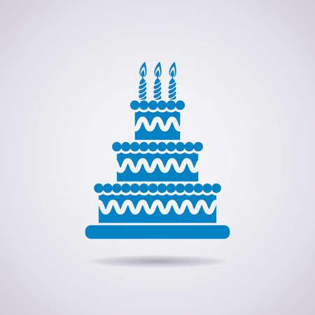 vector big birthday cake icon