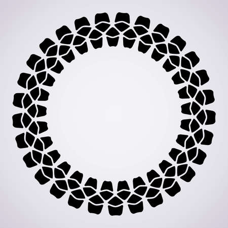 vector design of tire print and copy-space