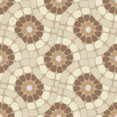 vector tile mosaic floor, stone background pattern Illustration