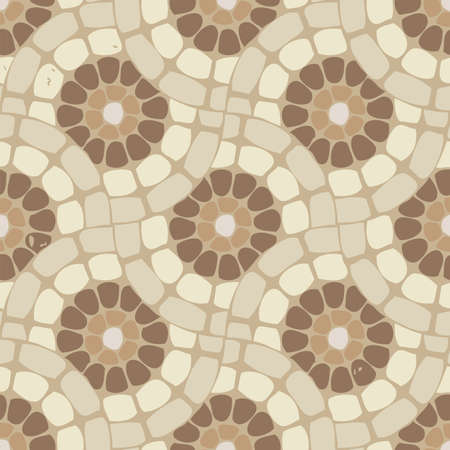 vector tile mosaic floor, stone background pattern Vector