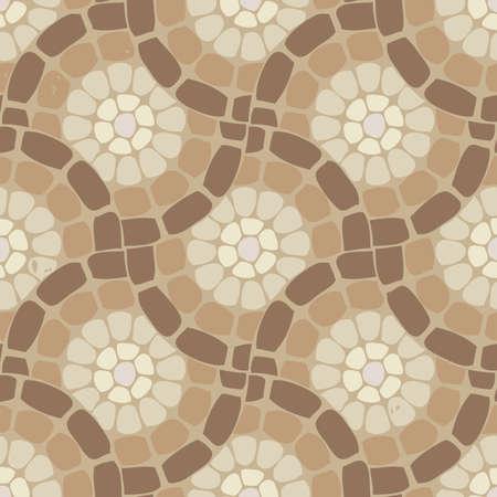 bathroom tile: vector tile mosaic floor, stone background pattern Illustration