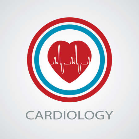 heartbeat: vector human heart medical symbol of cardiology