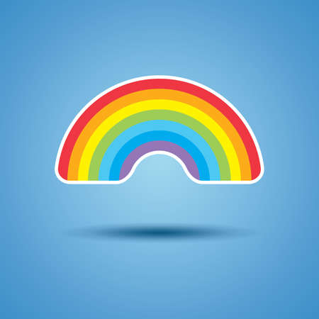 spring water: vector icon of rainbow