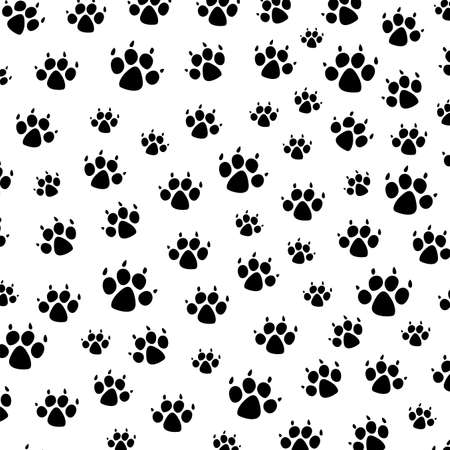 dirty feet: vector dog foot prints background pattern