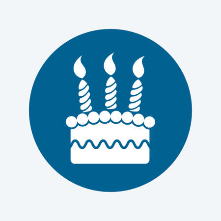 vector birthday cake icon  Vector