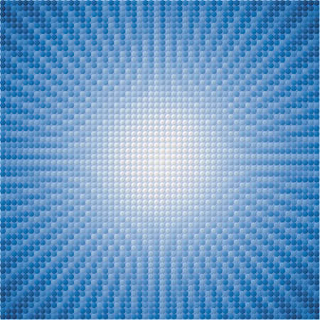 vector abstract background of blue star burst tiles Vector