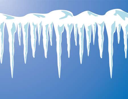 vector ijspegels en sneeuw achtergrond