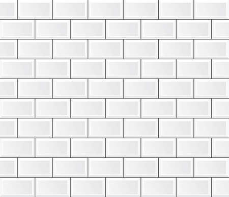 vector white tile wall Vectores
