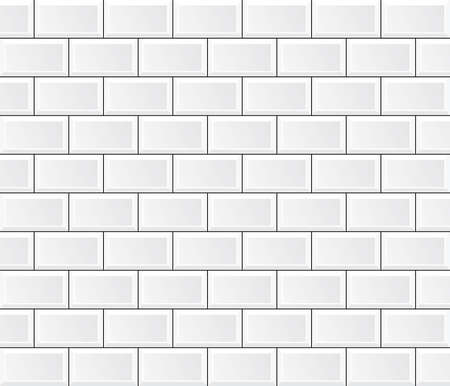 vector white tile wall Stock Illustratie