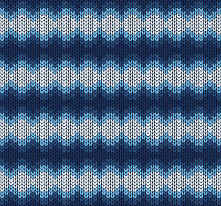 vector winter blue knitted pattern Vector