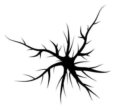 nerve damage: vector crack background