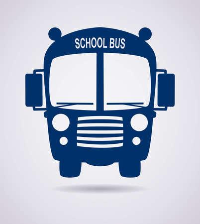vector school bus icon or symbol Vector