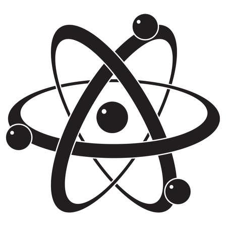 quimica organica: icono de la ciencia abstracta vector o símbolo de átomo