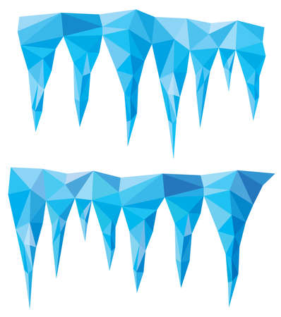 vector background of blue crystal icicles