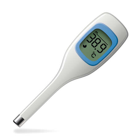 celsius: vector celsius medical electronic thermometer