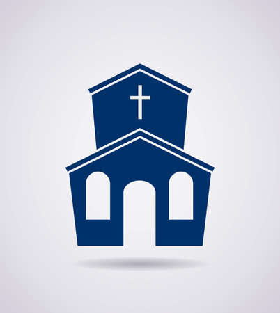 vector symbol or icon of church building Vector