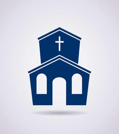 religious building: vector symbol or icon of church building