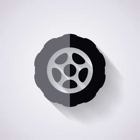 car tire: vector flat icon of car tire