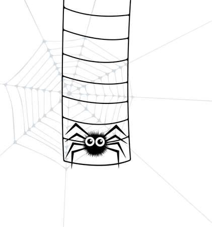 rope ladder: ilustraci�n vectorial de ara�a y escalera Web