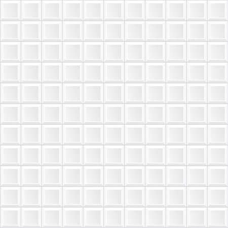 vector white tile wall Illustration