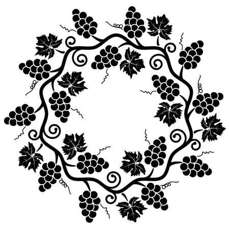 vector decoration of grape vine Vector