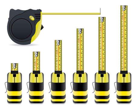 metro medir: vector conjunto de cintas medida