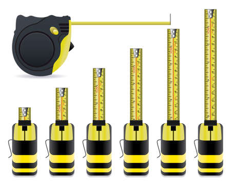 tape measure: vector measure tape set